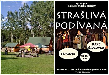 pozvánka - Strašlivá podívaná, 14.7.2012, Plzeň, Ranč Šídlovák, vstup zdarma